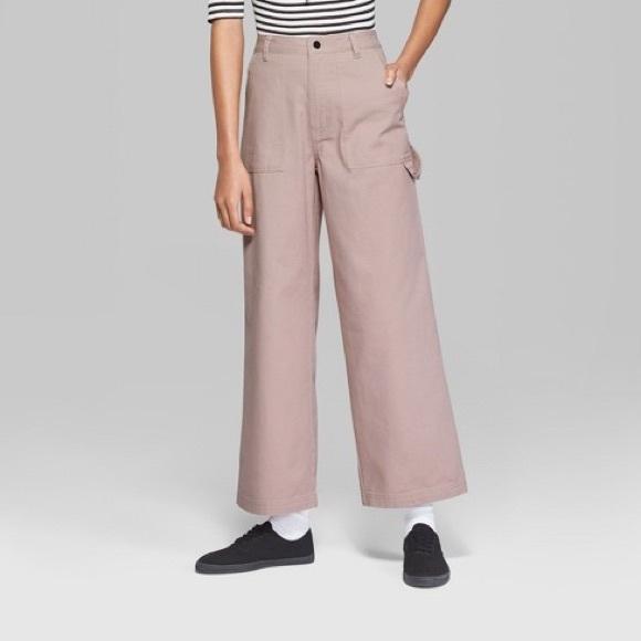 afbd704ba8 wild fable Jeans | Nwt Wide Leg Pink Pants Size 14 | Poshmark